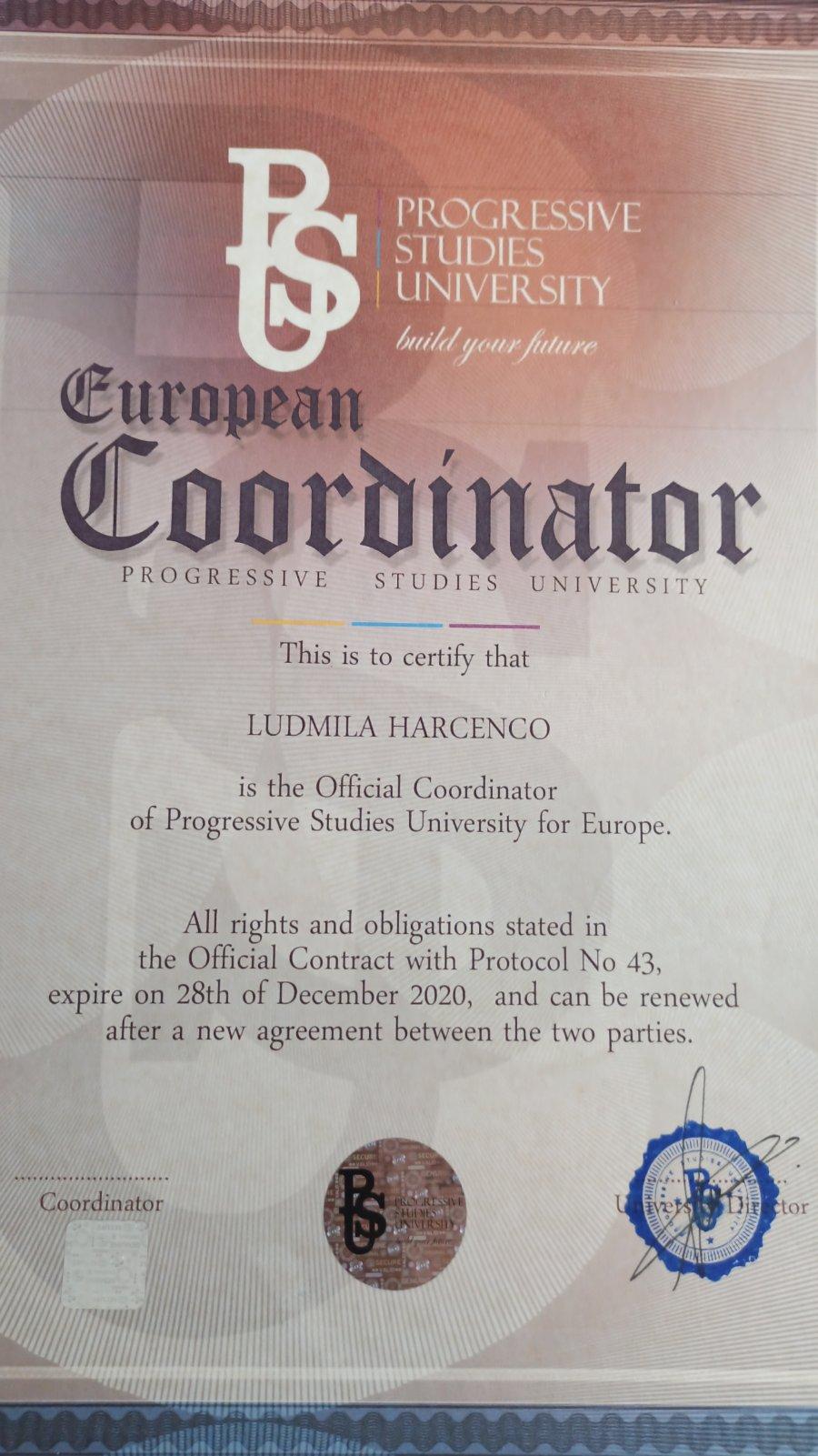 European-Coordinator-Progressive-Studies-University
